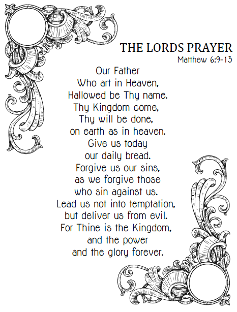image relating to Printable Our Father Prayer called Lords+Prayer+Catholic+Printable+for+Little one #403932 - PNG