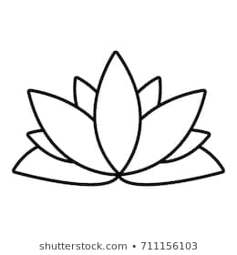 Lotus Flower Outline Free Lotus Flower Outline Png Transparent Images 43910 Pngio