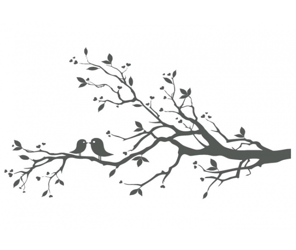 Love Birds In Tree Png - Love Birds On Branch X | Free Images At #192987 - PNG Images - PNGio