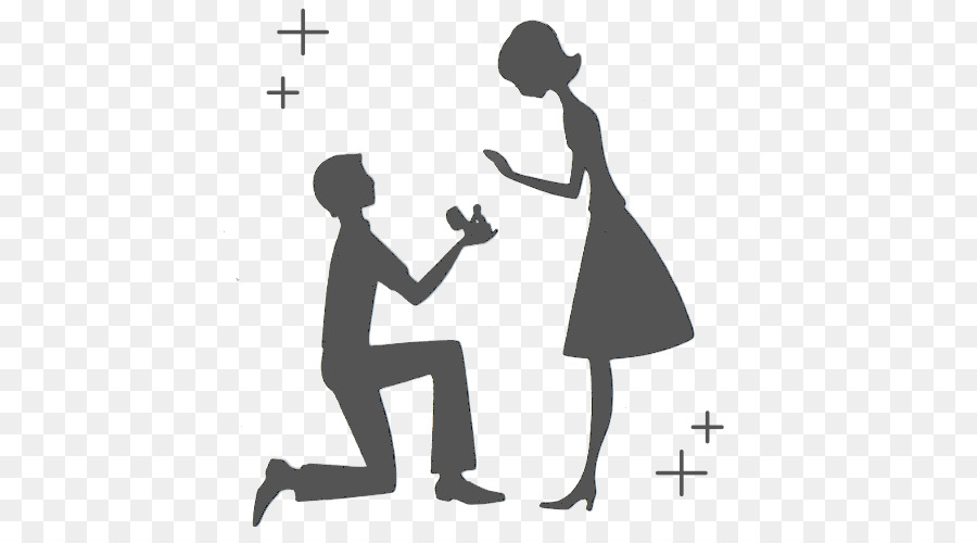 Engagement Proposal Png - Love Black And White png download - 500*500 - Free Transparent ...