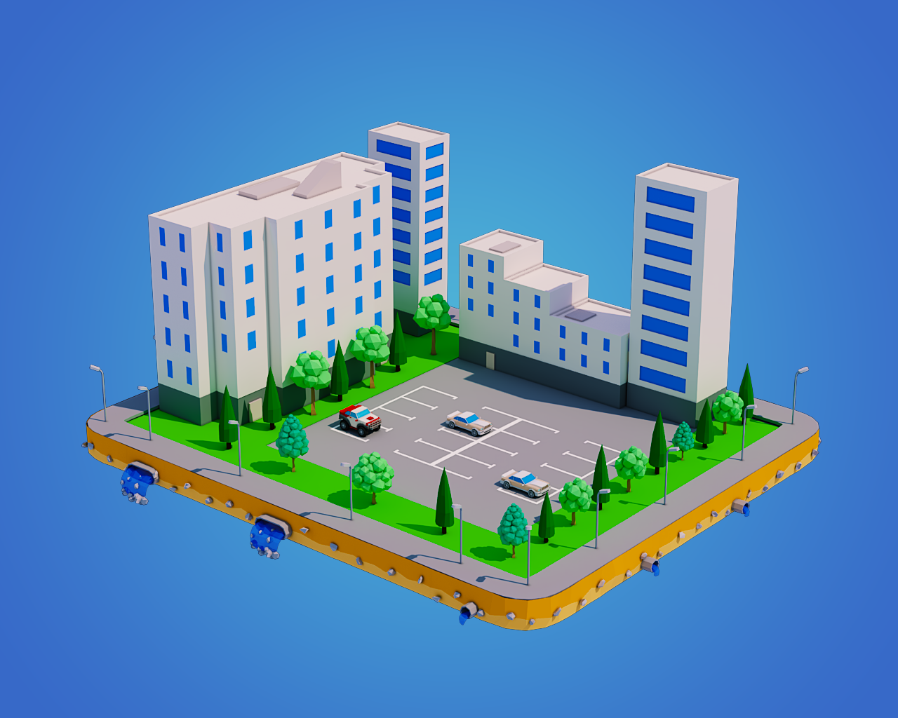 low poly city block 3d model in cityscapes 3dexport low poly city png 1280 1024