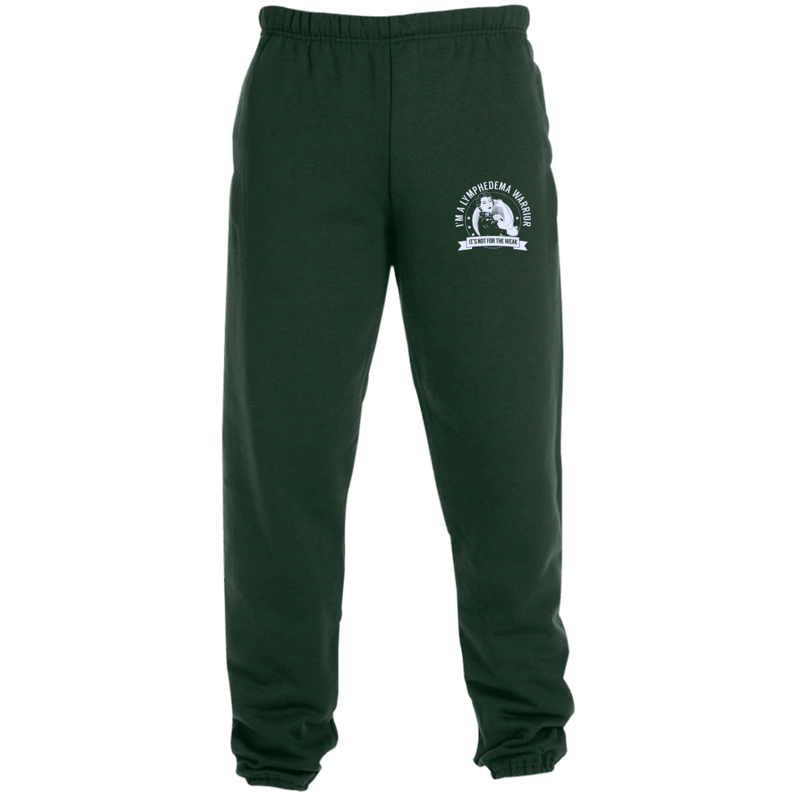 Sweatpants 3png - Lymphedema Warrior NFTW Sweatpants with Pockets - The Unchargeables
