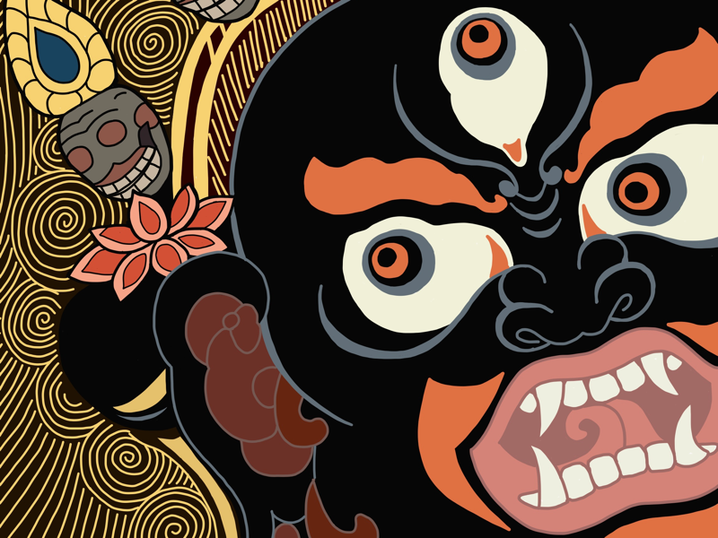 Mahakala Png - Mahakala by Kate Kalashnikova on Dribbble