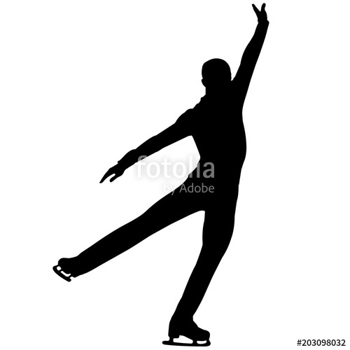 Boy Ice Skaters Png - Man Figure skating silhouette, Male Figure skating clipart, Boy ...