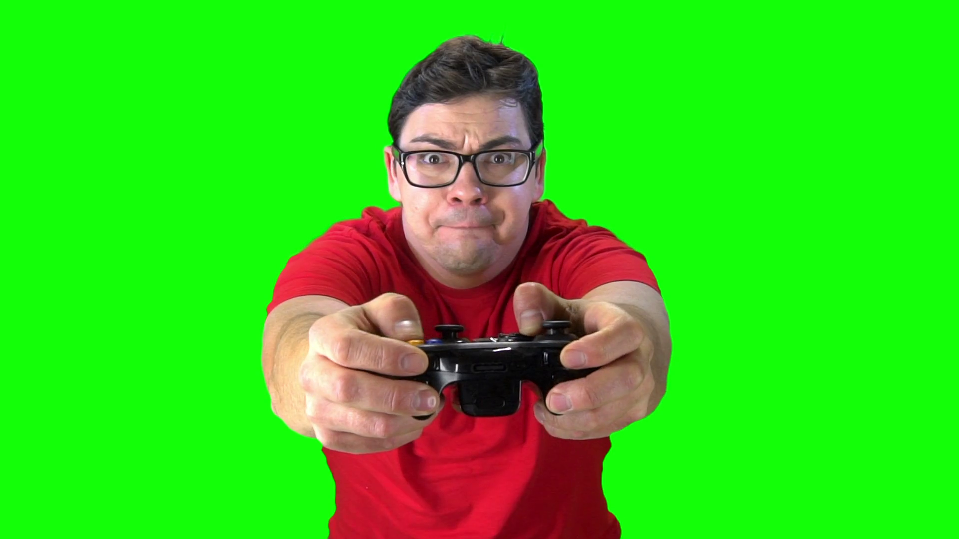 Some One Playing Video Game Png On Screen - Man holding game controller playing video games. Green screen ...