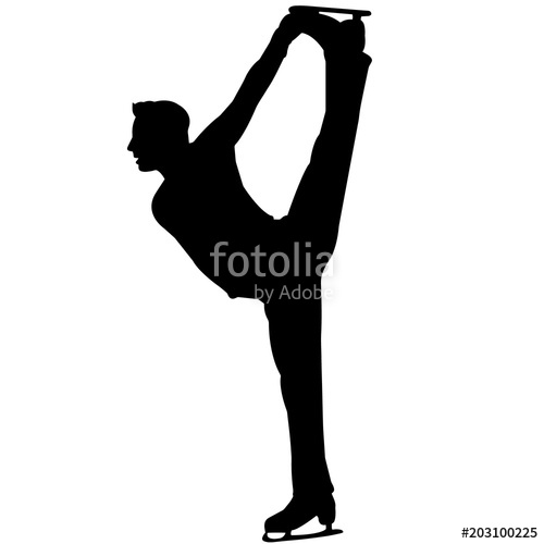 Boy Ice Skaters Png - Man Ice Skating silhouette, Male Ice Skater clipart, Boy Figure ...