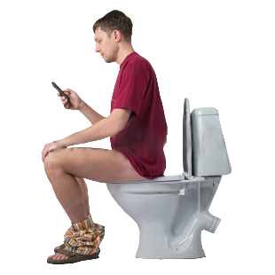 Sitting On The Toilet Png Amp Free Sitting On The Toilet Png