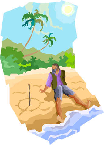 Stranded Png - Man stranded on a deserted island Royalty Free Vector Clip Art ...