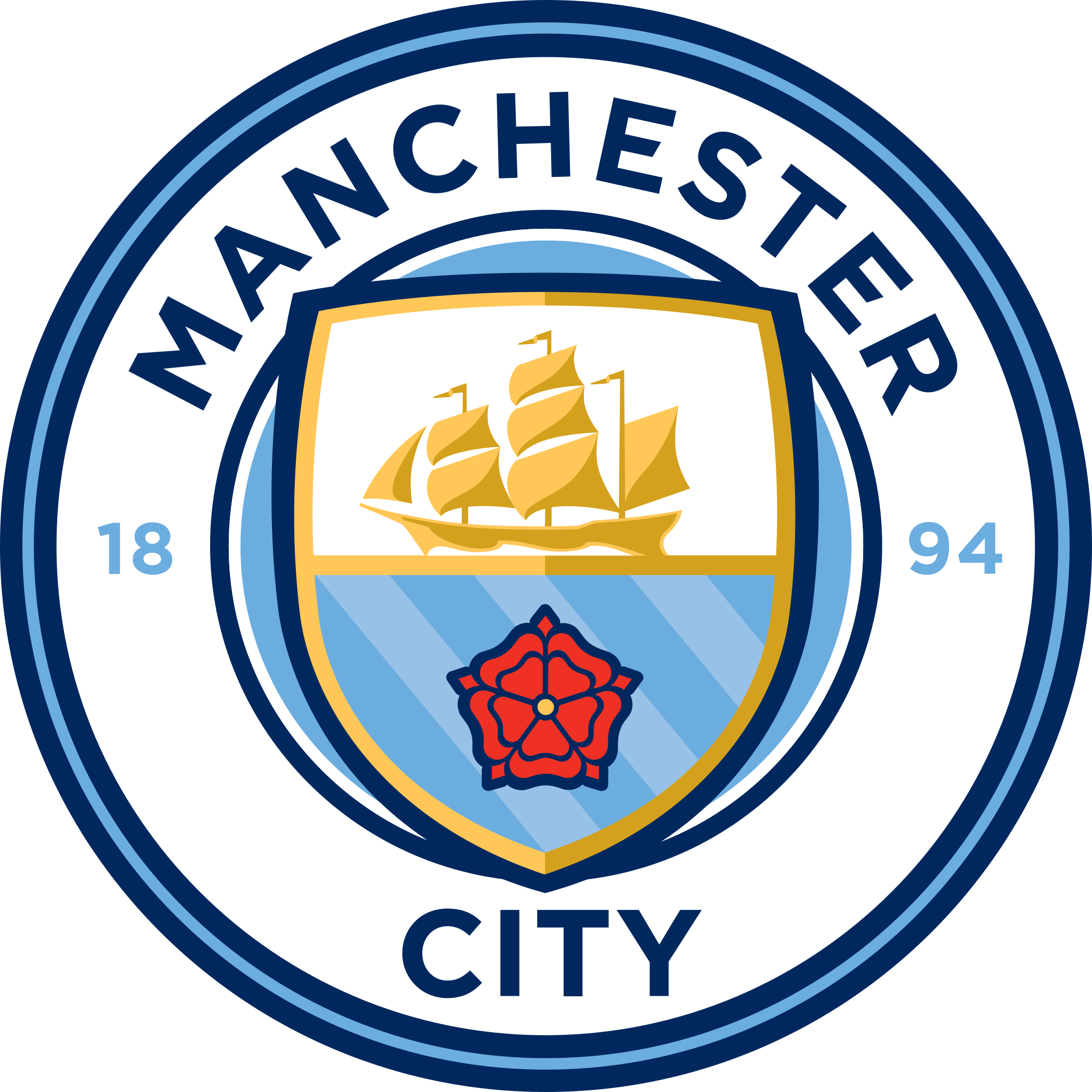 Manchester City Fc Png - Manchester City FC Logo - PNG and Vector - Logo Download