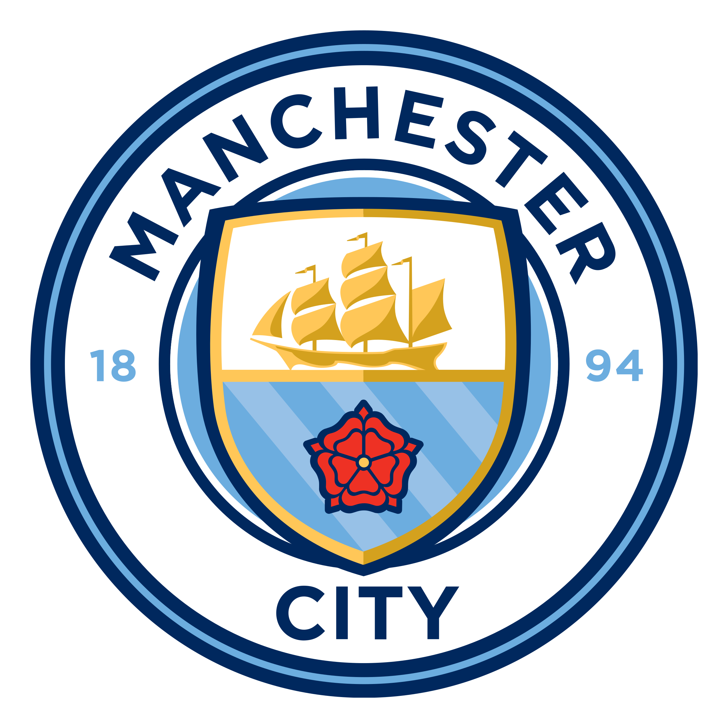 Manchester City Fc Png - Manchester City Logo PNG Transparent & SVG Vector - Freebie Supply