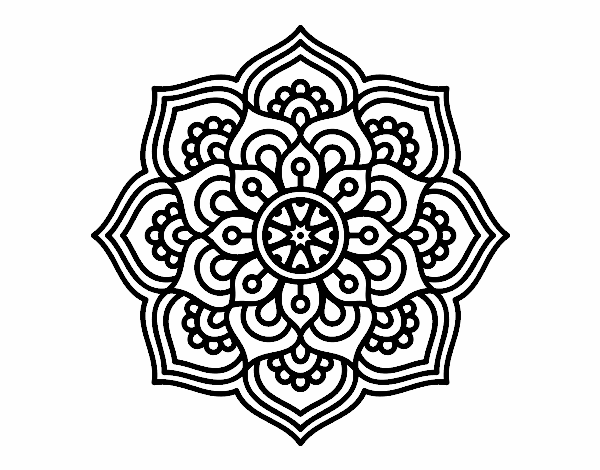 Easy Simple Mandala Coloring Pages Doodle Stock Illustration ... | 470x600