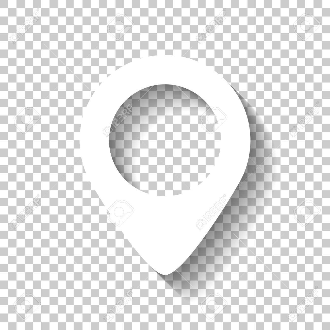 Map Label Icon White Icon With Shadow O 810199 Png Images Pngio