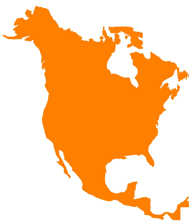 North America Map Png - map north america continent