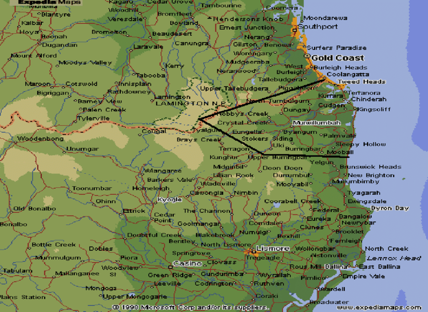 Tweed Shire Png - Map of the Tweed Shire, New South Wales | Download Scientific Diagram