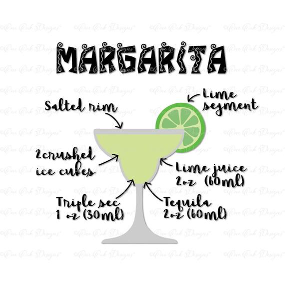Margarita Recipe Svg Dxf Png For Cameo S 1398684 Png Images Pngio