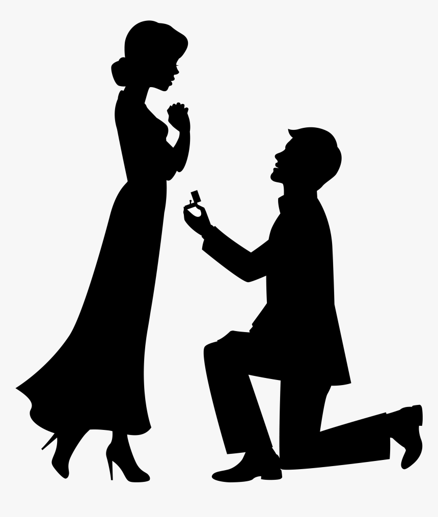 Engagement Proposal Png - Marriage Proposal Drawing Engagement Clip Art - Engagement Clipart ...