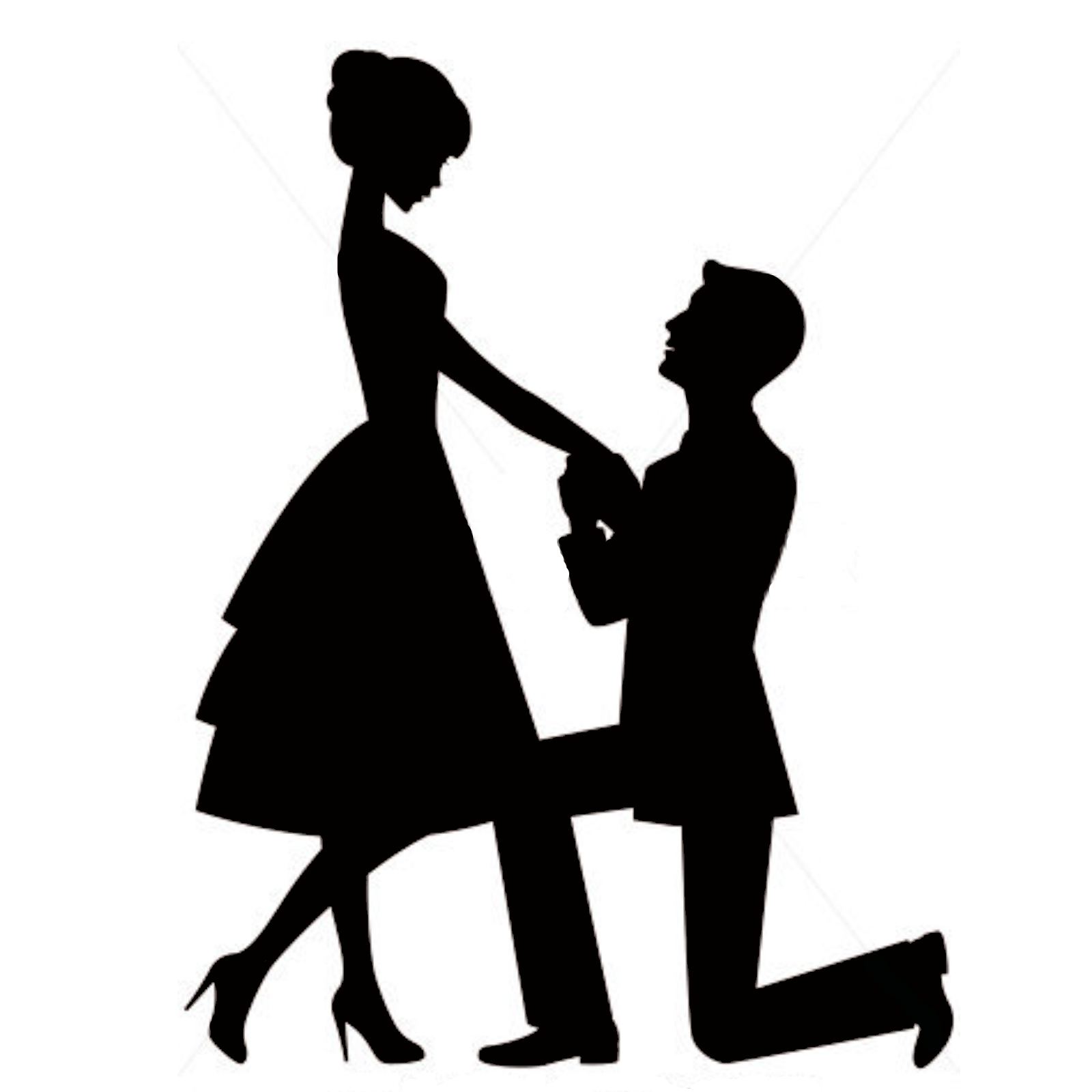 Engagement Proposal Png - Marriage proposal Engagement Wedding cake topper Silhouette ...