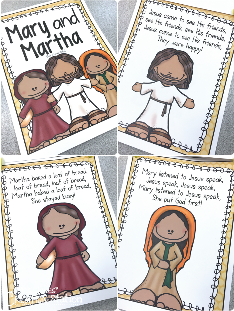 Mary and martha preschool bible lesson church of christ