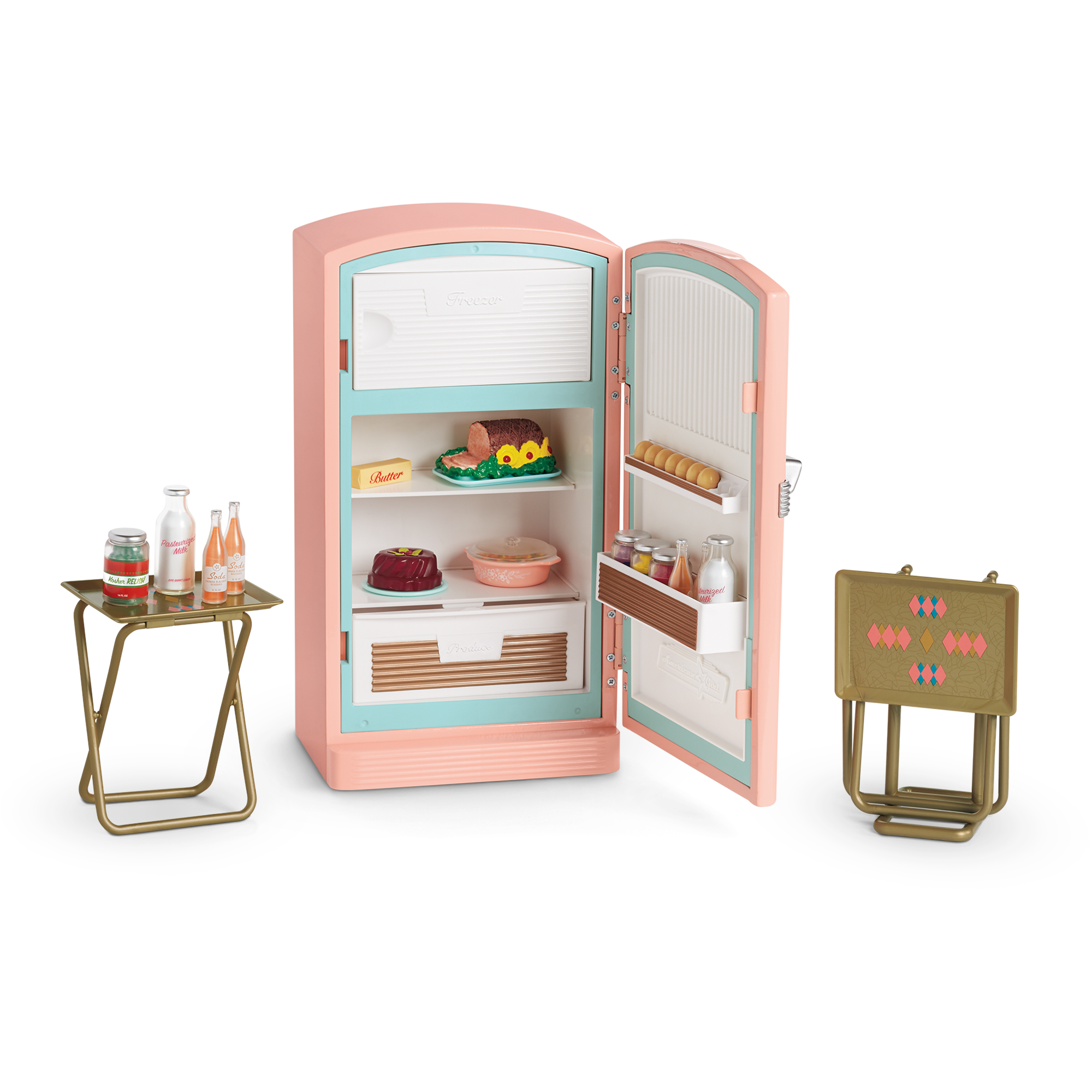 American Girl Doll Furniture Png - Maryellen's Refrigerator and Food Set | American Girl Wiki ...