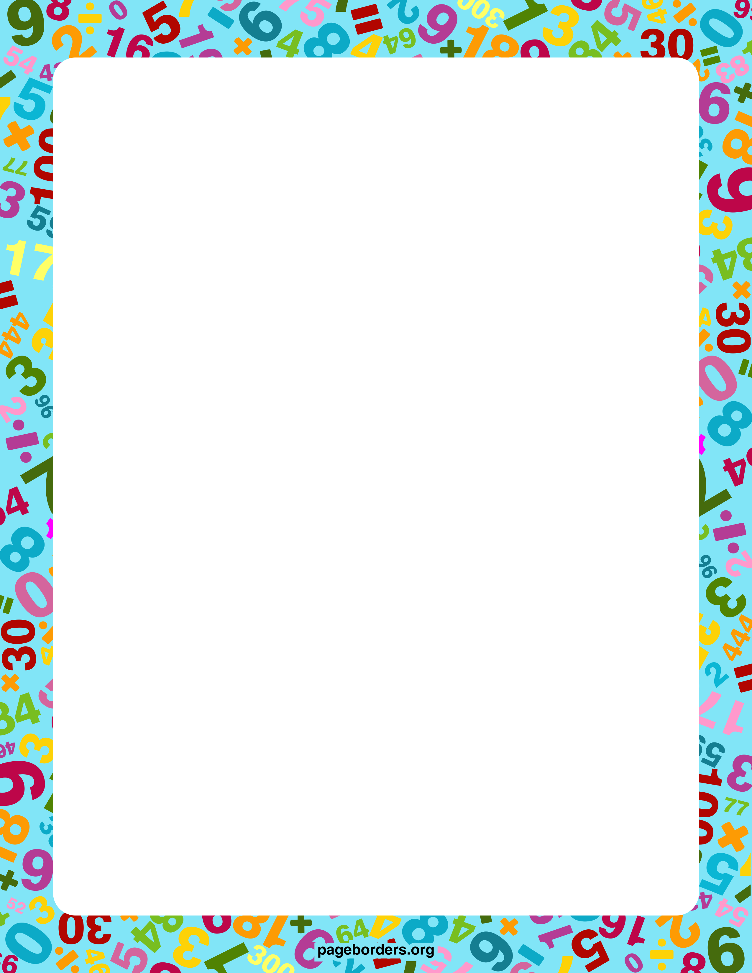 Borders With Numbers Png & Free Borders With Numbers.png