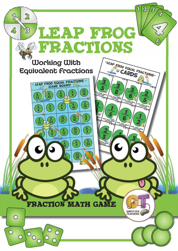 Frog Math Png - Math Game - Leap Frog Equal Fractions by 2NomadicTeachers - Teaching  Resources - Tes