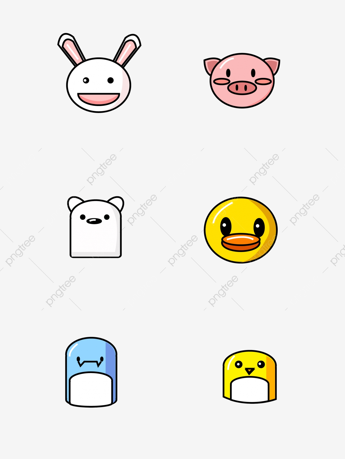 Cute Simple Png - Mbe Icon Cute Simple Animal Avatar, Mbe, Mbe Icon, Lovely PNG and ...