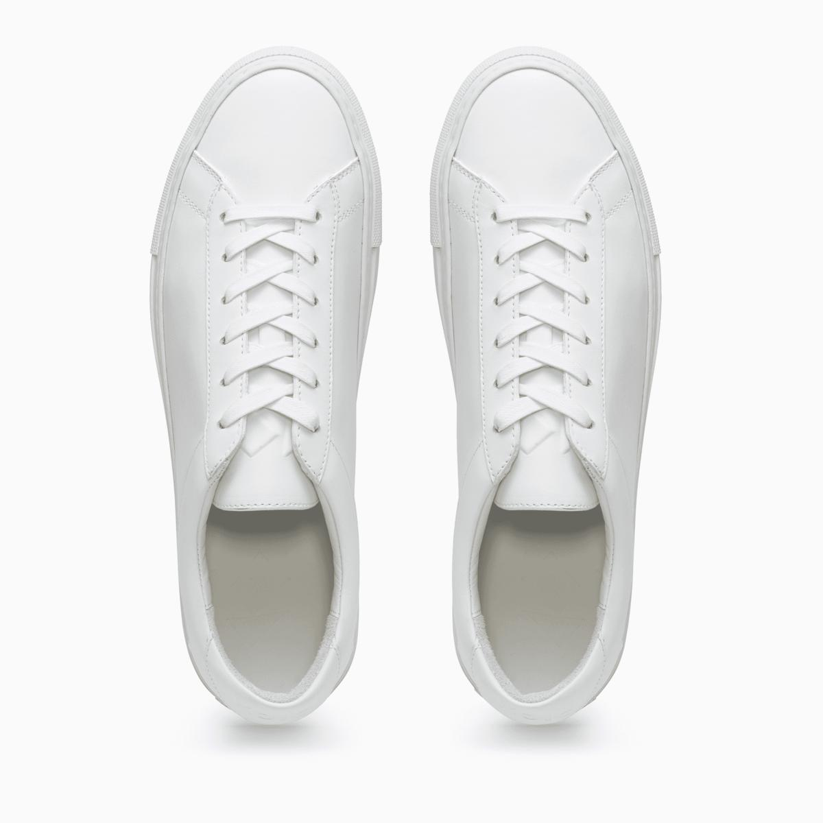 Shoes Top View Png - Men's Low Top Leather Sneaker in White | Capri Triple White | KOIO