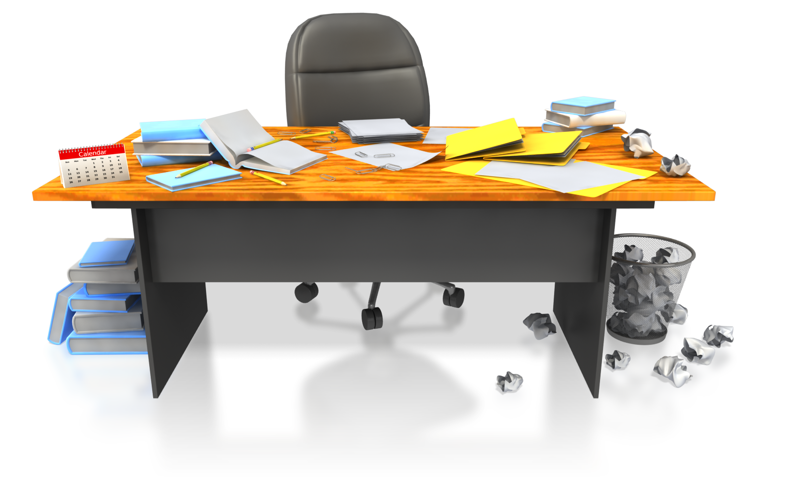 Black And White Png Man At Messy Desk - Messy Office Desk Png & Free Messy Office Desk.png Transparent ...