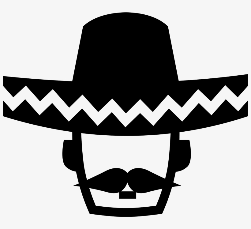 Mexican Man With Sombrero Png - Mexican Man Wearing Sombrero Rubber Stamp - Mexican Man With ...