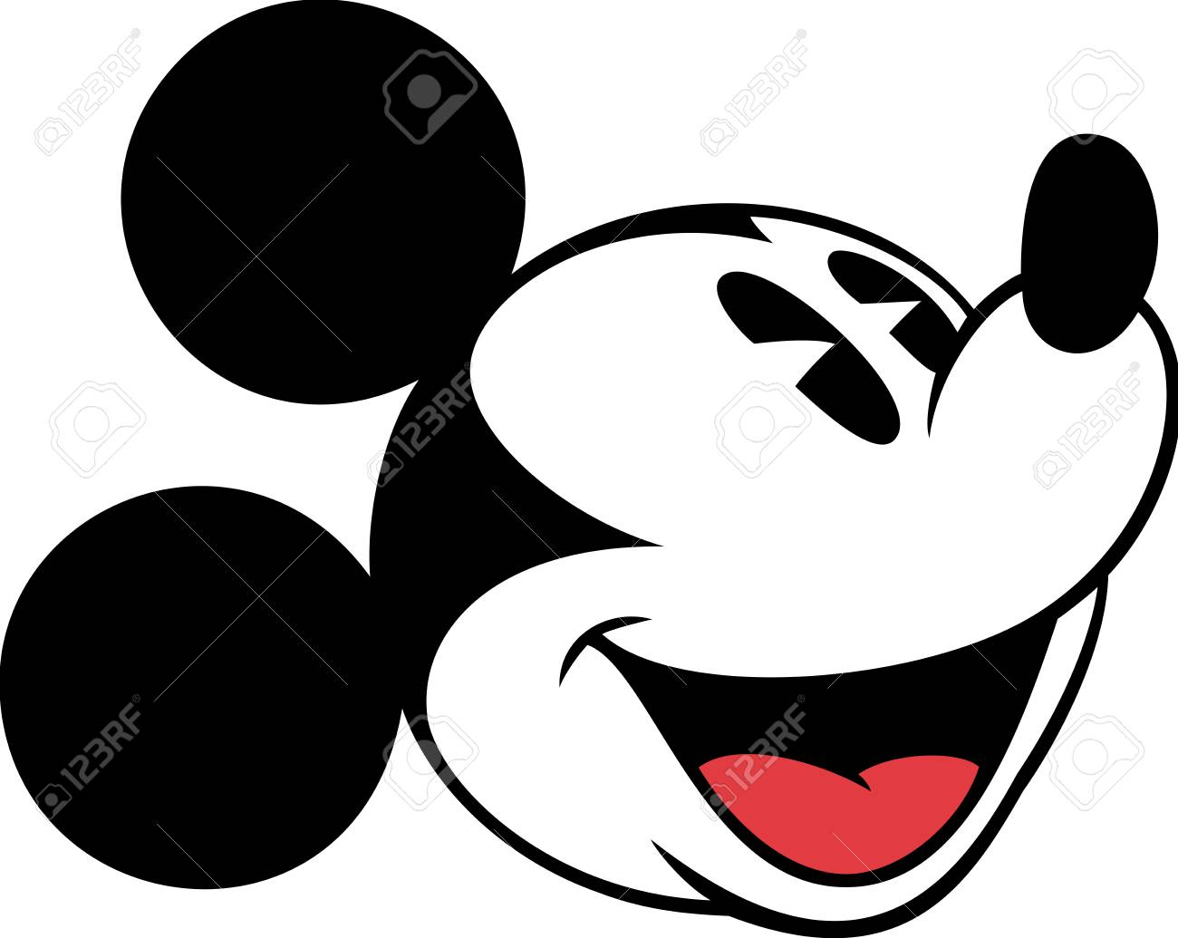 Mickey Mouse Head - Mickey Mouse Head Character Cartoon Gaping Mouth Illustration ...