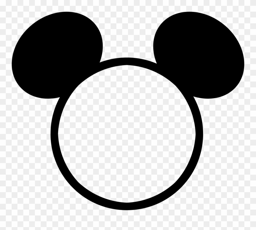 Head Outline Png - Mickey Mouse Head Outline Png - Mickey Mouse Head Frame Clipart ...