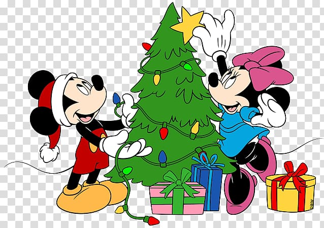 mickey mouse minnie mouse pluto christmas disney tree disney christmas background png 638 449