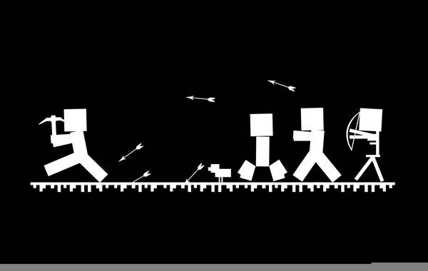 Minecraft Png Black And White Free Minecraft Black And White Png