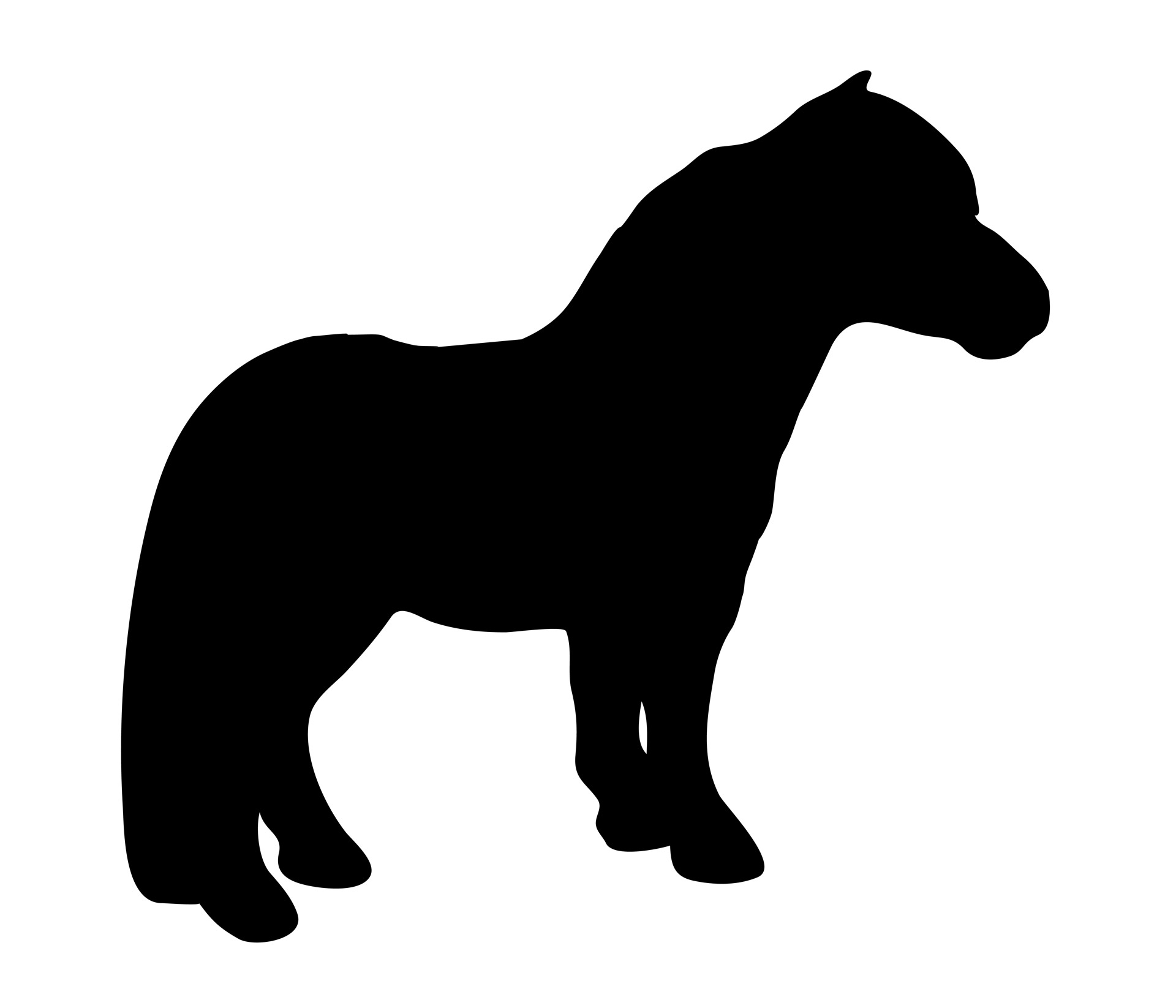 Pony Silhouette Png - Miniature Horse Clipart