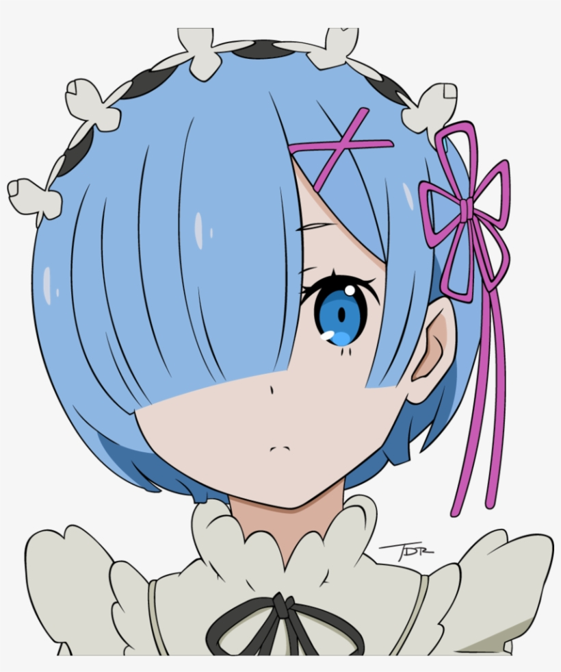 Re Zero Rem Transparent - Minimalist Transparent Rem - Rem Re Zero F PNG Image | Transparent ...