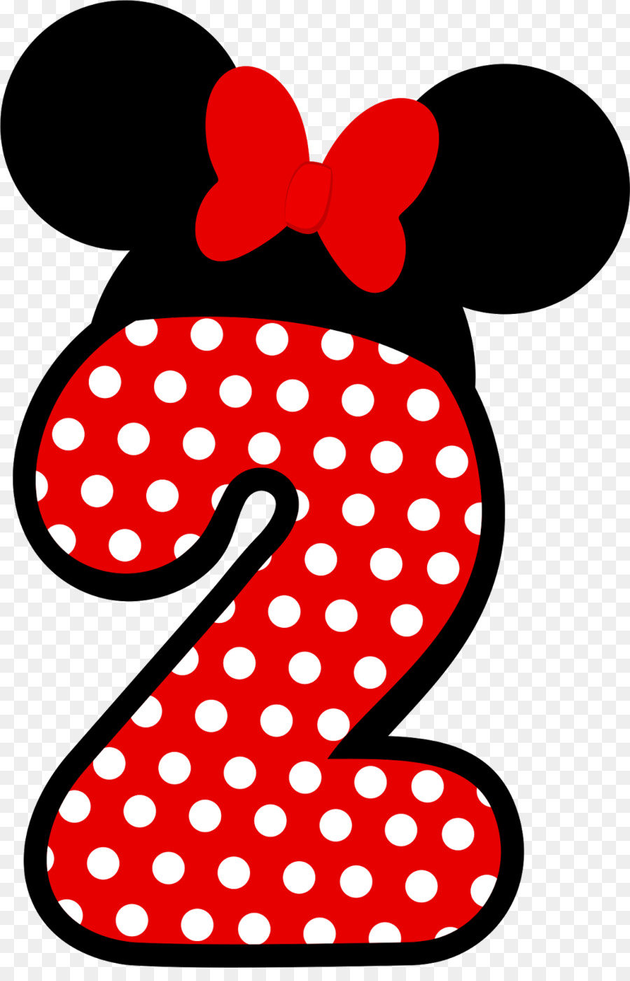 Mickey Mouse Number Png - Minnie Mouse Mickey Mouse Drawing Party - number two png download ...