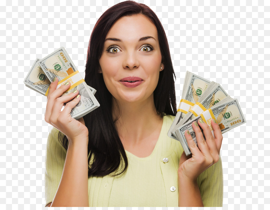 Png Woman With Cash - Money Loan Payment Stock photography Cash flow - woman holding ...