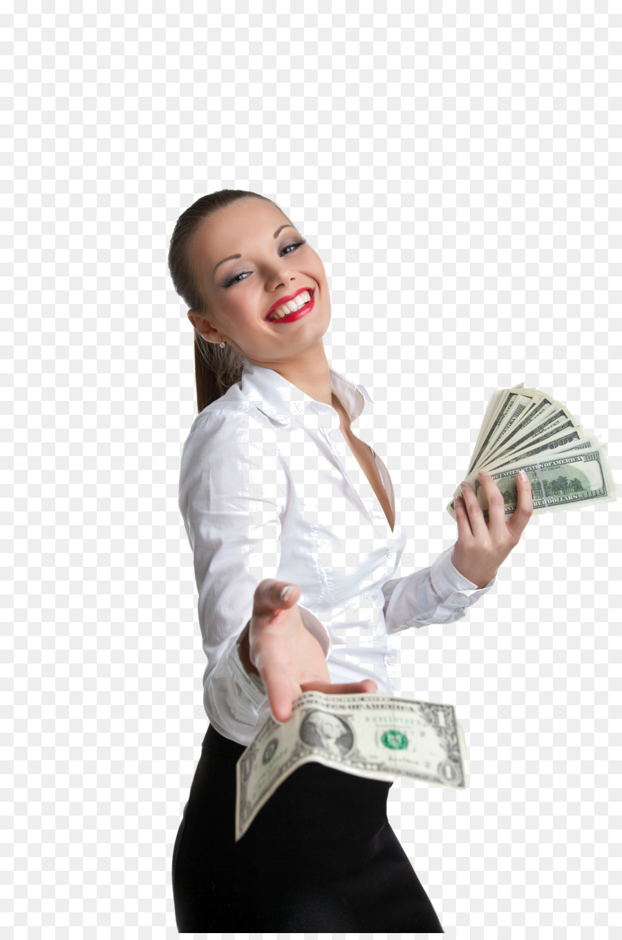 Png Woman With Cash - Money Wallet Woman United States Dollar Banknote - money bag png ...