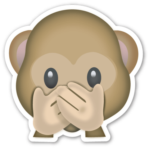 Hidden Faces Png - Monkey Hidden Face Emoji transparent PNG - StickPNG