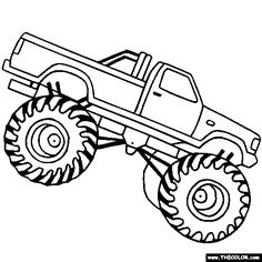 Monster Truck Clipart Black And White - Monster truck clip art pictures free clipart images 5 - Clipartix