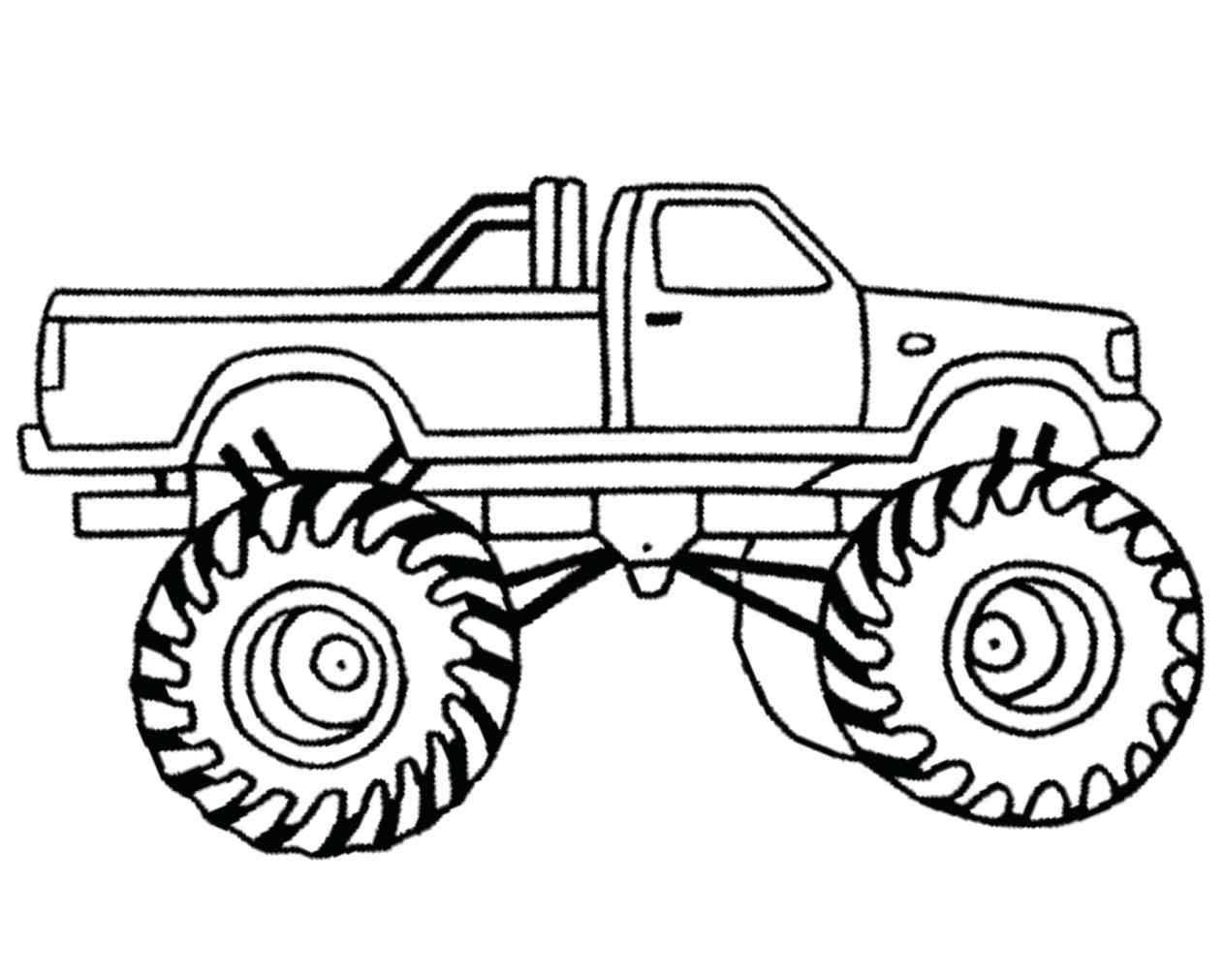 Monster Truck Clipart Black And White 6 768912 Png Images Pngio