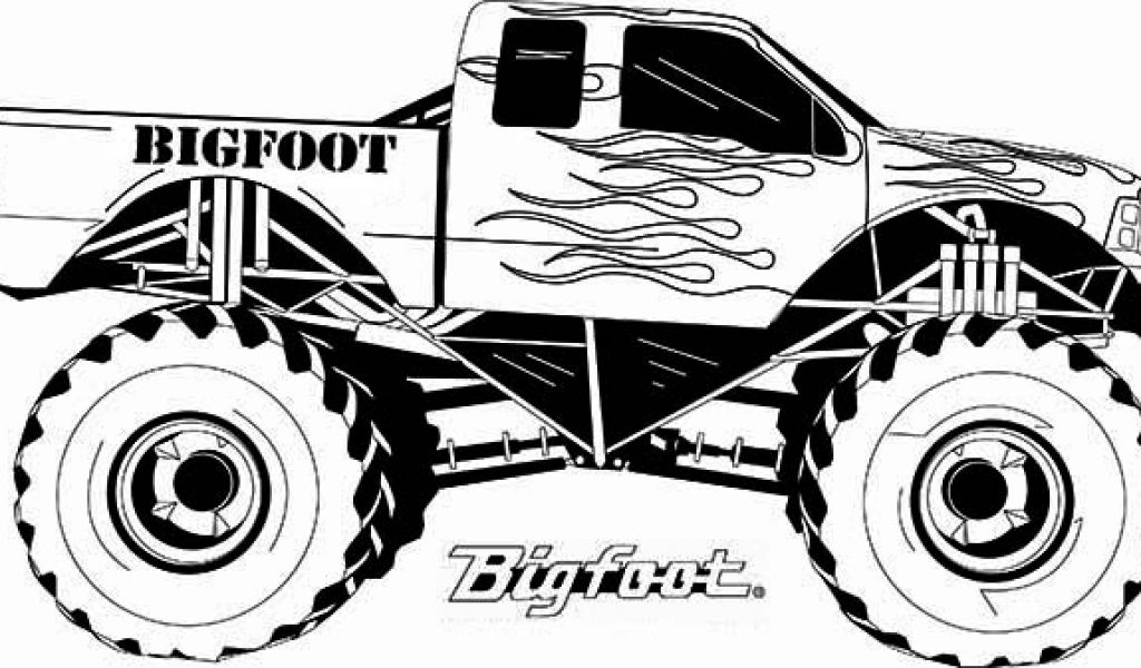 Monster Truck Clipart Black And White - Monster truck coloring page clipart - WikiClipArt