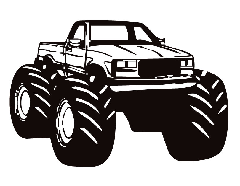 Monster Truck Clipart Black And White - Monster truck fast clipart free images image - WikiClipArt