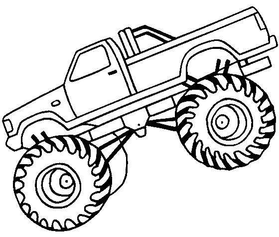 Monster Truck Clipart Black And White - Monster truck silhouette clipart 4 - WikiClipArt