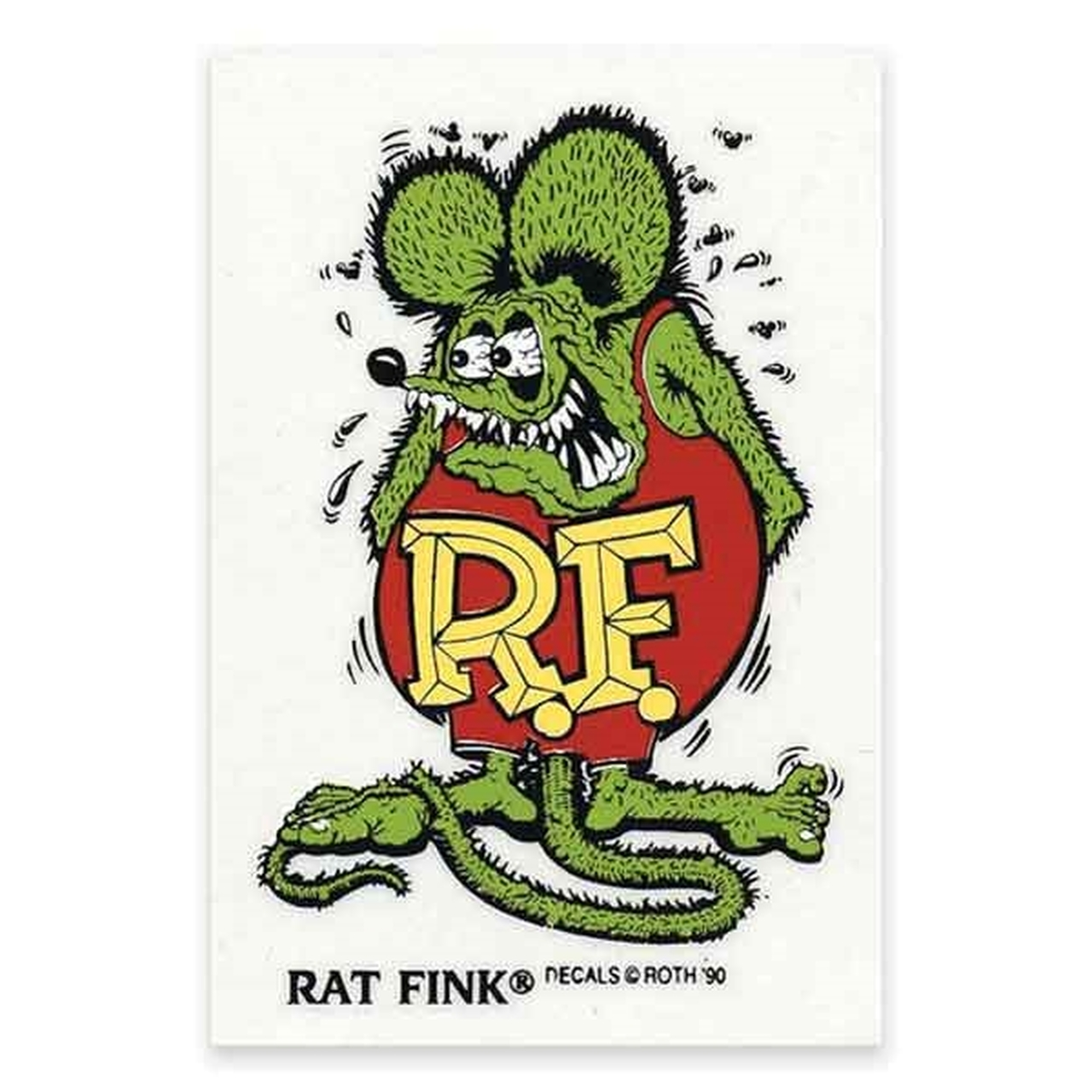 Rat Fink - Mooneyes Large Rat Fink Standing Green Decal - SO-CAL Speed Shop AZ
