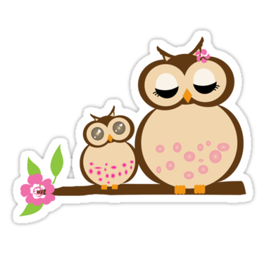 Mother Baby Owl Png - Mother and baby owls | Sticker | Owl baby shower theme, Baby owls ...