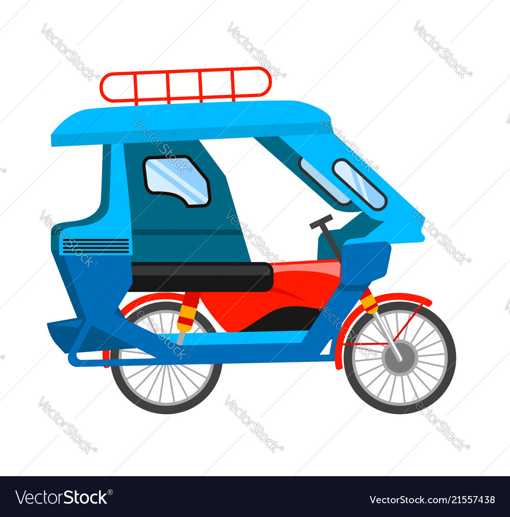 Tricycle Vector Png - Motorized tricycle Royalty Free Vector Image - VectorStock