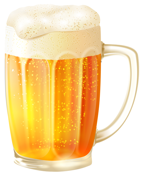 Beer Png - Mug with Beer PNG Vector Clipart Image