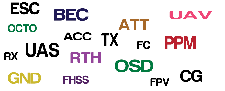 Abbreviations Png - Multirotor Abbreviations & Acronyms. | Flying Tech