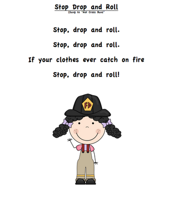 Girl Stop Drop And Roll Png - My Mom is a Firefighter Book Review AND lots of freebies!   Songs ...
